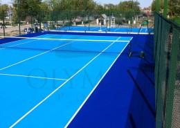 Тенисный корт на территории КазГерМунай
