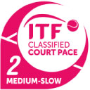 Рейтинг скорости покрытия ITF: 2 - Средне-медленный