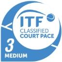 Рейтинг скорости покрытия ITF: 3 - Средний
