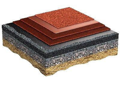 Regupol Compact - Этап установки 6: Беговая поверхность из резиновых гранул EPDM