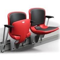 """Кресло складное полумягкое """"Победа-М"""" с подлокотником"""
