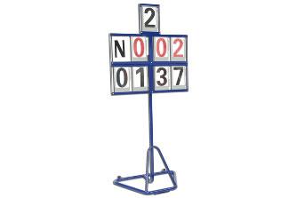 Табло номерное с 8 полями для цифр: S02120