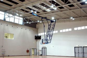 Ферма баскетбольная складывающаяся к потолку: S04070