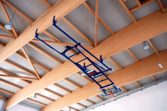 Ферма баскетбольная складывающаяся к потолку : S04072