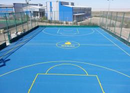 Баскетбольная площадка на производственной базе Ерсай