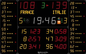 Универсальное табло: 452 MB 3123-2 FIBA