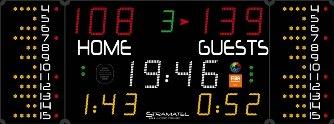 Универсальное табло: 452 MB 7020 FIBA