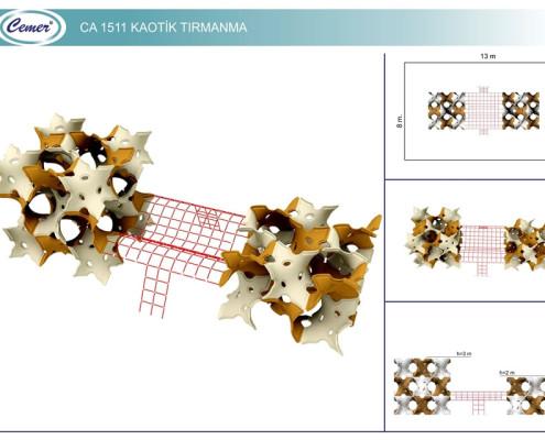 Хаотичная площадка для лазания: CA1511