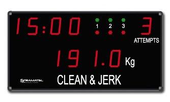 Спортивное табло для тяжелой атлетики: CHB