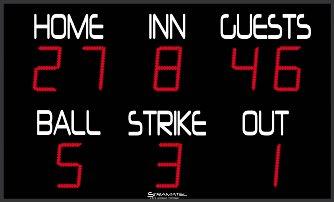 Наружные спортивные табло для Бейсбола: FBB