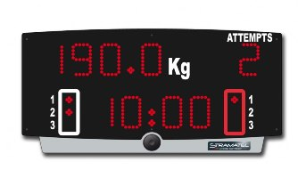 Спортивное табло для тяжелой атлетики: H-TOP