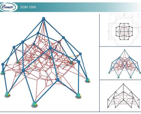 Паутинообразная игровая конструкция: SGM1006