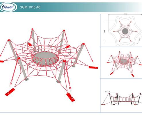 Паутинообразная игровая конструкция: SGM1010A6