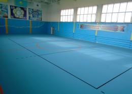 Новое покрытие в спортивном комплексе Ерсай