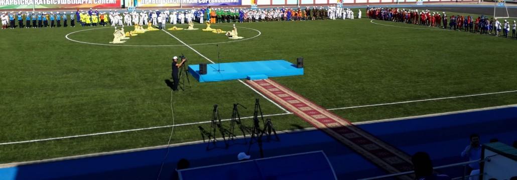 Открытие стадиона в с.им. Наги Ильясова