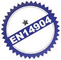 Соответствует требованиям спортивных залов EN14904