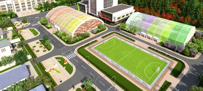 Спортивный комплекс в г. Каскелен, мкр. Алтын Ауыл