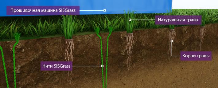 Система гибридной травы SISTurf