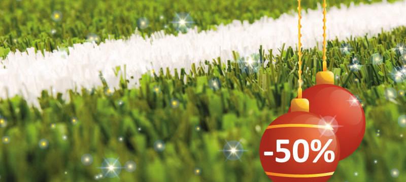Новогодняя скидка на искусственную траву