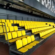 Телескопические трибуны в спортивном центре Aspan